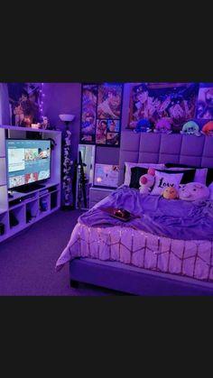 Neon Bedroom, Cute Bedroom Decor, Bedroom Decor For Teen Girls, Room Design Bedroom, Girl Bedroom Designs, Room Ideas Bedroom, Room Ideas For Teen Girls Diy, Cool Bedroom Ideas, Pinterest Room Decor