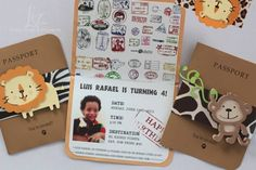 passport invitation for birthday - Google Search