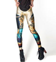 $47.99 Retro Egyptian Print Skinny Leggings @ MayKool.com