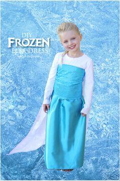 10 amazing Elsa dress tutorials for all levels of sewing. Plus a no-sew Elsa cape. Dress Up Outfits, Dress Up Costumes, Diy Costumes, Halloween Costumes, Dresses, Work Outfits, Costume Ideas, Easy Costumes To Make, Frozen Elsa Dress