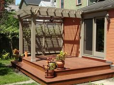 Simple pergola   No plans included Just in case I need privacy from the neighbours.