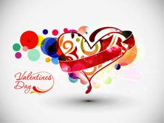 Greeting Card for Valentine's day, Heart on floral background, for vector illustration and can be scaled to any size without loss of resolution.