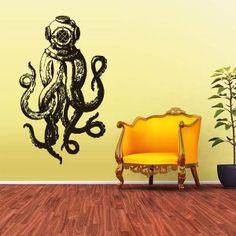 Amazon.com - Wall Vinyl Sticker Decals Decor Jellyfish Octopus ...
