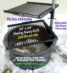 Higley Metals & Fire Pit Fabrication. We ship US 48 States and Canada. www.HigleyFirePits.com