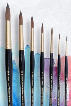Pro Arte Sablene Brushes are a fully synthetc alternative to a traditional sable brush. This breakthrough synthetic offers an alternative for sable lovers, marks a new level for synthetics and is a great option for artists looking for an animal hair free sable alternative.  #artsupplies #proarte #watercolour #artmaterials #vegan #kenbromleyartsupplies #veganart Synthetic Brushes, Synthetic Hair, School Supplies, Art Supplies, Natural Hair Brush, Detailed Paintings, Round Brush, Watercolor Brushes, Craft Business