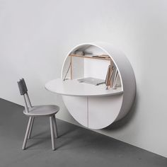 Pill Multifunctional Space Saving Wall Table, White - - Office Desk - EMKO - Space & Shape - 4