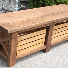 This bench could make a great indoor or outdoor piece to add to your home. Estemerwalt Lumber can help you accomplish this project for only $65!