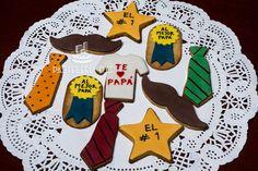 Galletas para el día del padre. Cubiertas en fondant / Father's day cookies covered with fondant.