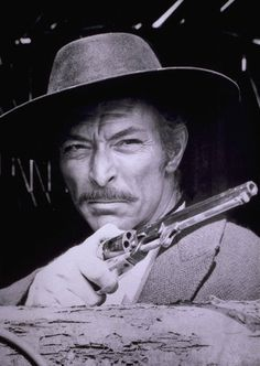 """Lee Van Cleef - actor who played in crime dramas and westerns .Best known for his role as """" Angel Eyes"""" in the film The Good, The Bad and The Ugly. He died on Dec 1989 from a heart attack at the age of Old Movies, Great Movies, Vintage Movies, Vintage Movie Stars, Old Movie Stars, Hollywood Stars, Classic Hollywood, Kino Theater, O Cowboy"""