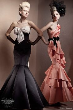 couture gowns | Elihav Sasson haute couture gowns - strapless ruffle evening dress