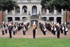 Royal Marines Portsmouth Band, outside Officers Mess, Eastney Barracks