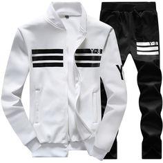 Camisola + calças corredores 2016 nova venda quente terno homens camisola  homens marca de moda ao e574d40167013