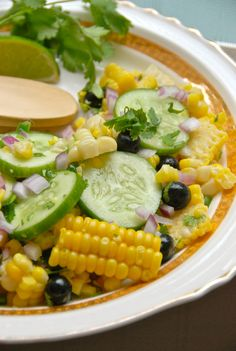 Corn & Blueberry Salad: the right amount of sweet, the right amount of crunch and the perfect dash of heat