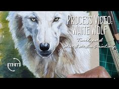 White Wolf, Process Art, Mixed Media, Painting, White Wolves, Paint, Draw