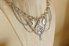Celestial Heavy Chain Pentagram Necklace charm necklace