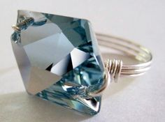 wire and Swarovski crystal ring by Yolanda Tsen Espinoza - from Razzle Dazzle: Using Crystals in Wire Jewelry and the Latest from Swarovski - Jewelry Making Daily