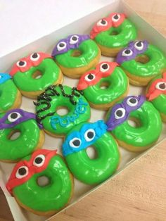 tmnt donuts | TMNT donuts from The Hole Thing | TMNT bday party ideas | Pinterest