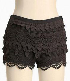 crochet shorts | Tumblr