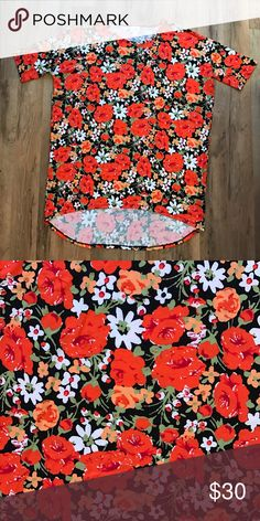Small Lularoe Irma Shirt Super soft and stretchy. The most forgiving Shirt ever. LuLaRoe Tops Tees - Short Sleeve