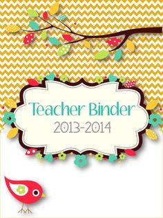 {CYBER MONDAY} 28% off Sale on my Teacher Binder & Planner Pack! *Chevron & Bird Themed.* My whole store will be 28% off Monday and Tuesday 12/2-12/3