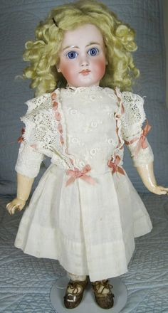 AT Marked Mystery German French Antique Doll