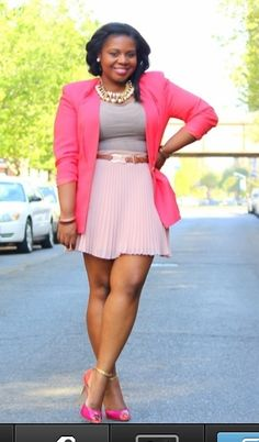 Great spring look for hot pink jacket