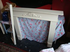 Lovely large fireplace and plinth trim in distressed and waxed String...