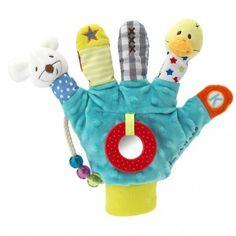 cadeau pour bébé : un gant marionnette à doigts pour stimuler bébé