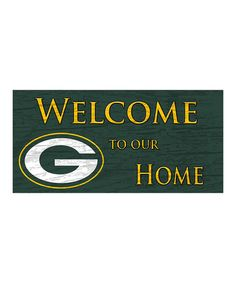 This Green Bay Packers Welcome Sign is perfect! #zulilyfinds