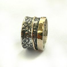 Breathtaking sterling silver oxidized lace ring with a by ilanamir, $155.00