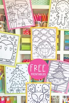 Christmas Crafts classroom Join our coloring club to find beautiful coloring pages to complete this Christmas! Preschool Christmas, Christmas Crafts For Kids, Christmas Colors, Preschool Crafts, Christmas Themes, Kids Christmas, Holiday Crafts, Holiday Fun, Art Therapy Activities