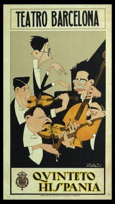 1923 fue un año importante para Ernesto Halffter, músico ligado a la Generación del 27. Compuso su Cuarteto de cuerda en La menor (estrenado por el Quinteto Hispania).Teatro Barcelona : Quinteto Hispania :: Cartells (Biblioteca de Catalunya).