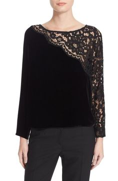 Tracy Reese Lace Combo Tee available at #Nordstrom