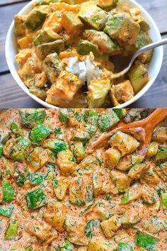 healthy dinner recipes videos This Creamy Zucchini Sauce is bursting with flavor! Made with paprika-roasted zucchinis, sour cream, garlic, and fresh herbs, it tastes great Zucchini Sauce, Zucchini Noodles, Healthy Food Recipes, Easy Recipes, Super Food Recipes, Greek Food Recipes, Damn Delicious Recipes, Vegetarian Recipes Videos, Healthy Pizza