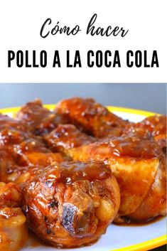 Pollo Chicken, Tandoori Chicken, Chicken Wings, Top Recipes, Poultry, Tapas, Chicken Recipes, Food And Drink, Menu