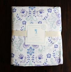 NEW Pottery Barn Kids Lavender IVY DAMASK Floral Organic Duvet Cover Twin  #PotteryBarnKids  $69