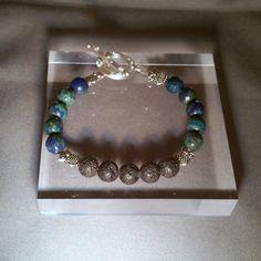 Chrysocolla Blue Green Diffuser Bracelet with Black Lava Stones by NavigatingBeauty on Etsy https://www.etsy.com/listing/494501821/chrysocolla-blue-green-diffuser-bracelet