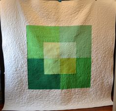Earth, a colour study in green - before washing by shecanquilt, via Flickr