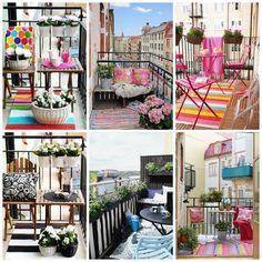 decorar balcones y terrazas pequeñas | Tendencias al Aire | Huesca | Vicky Barrio Cama Junior, Table Decorations, Nice, Buenas Ideas, Furniture, Beautiful, Collages, Outdoors, Home Decor