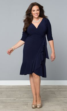 ea864858a4523 Check out the deal on Whimsy Wrap Dress at Kiyonna Clothing