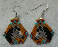 Hand Crafted Horse Head Pottery Earrings  | wolflady - Jewelry on ArtFire