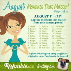 August Moments that Matter ~ Join Us!  {photo journal prompt}