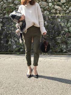 ビッグニットをイン💕 このパンツ、ラインと良い履き心地といい 気に入り過ぎて色違いあったら本当欲し