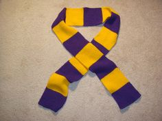 PHS scarf purple and gold