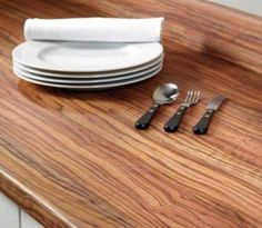 Kitchen Worktop: 4.1m Bushboard Omega Olivewood Ultramatt Laminate Kitchen Worktop