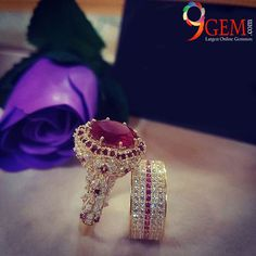 WOW her Ruby Engagement ring is so awesome and unique choose her style from our collection