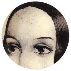 Ellen Eyes decoupage plate. Original print circa 1880.