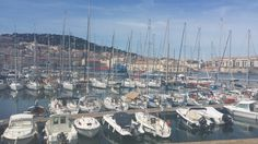 Yachts in the bay in Sete, France