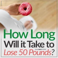 """It seems like everyone wants to know how long it will take them to lose 50 pounds. The answer really depends on your age, gender, and current weight. Women generally lose weight faster than men of the same height and age due to hormonal differences that affect metabolism. For example, someone who is 5'4"""" at 190 pounds is an average female with a BMI of 33 (overweight). Based on this information you can expect it will take her about 8 months to drop 50 pounds if she goes from 190-140... Best Weight Loss, Weight Gain, Weight Loss Tips, How To Lose Weight Fast, Lose 50 Pounds, 8 Months, Metabolism, 50th, Gender"""