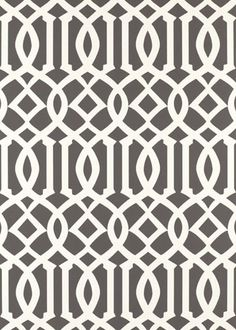 Imperial Trellis Charcoal Wallpaper (expensive but lovely for an entry or powder room)